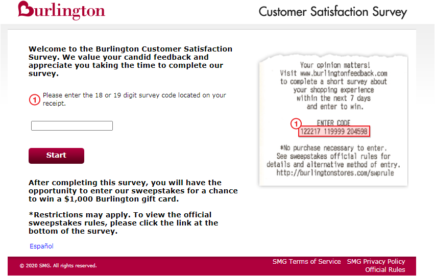 Burlington Customer Feedback Survey