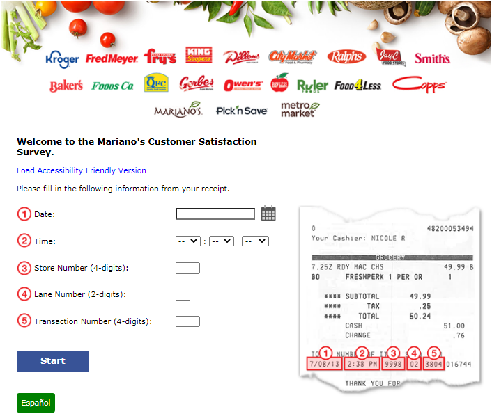 Mariano's Guest Experience Survey 2020